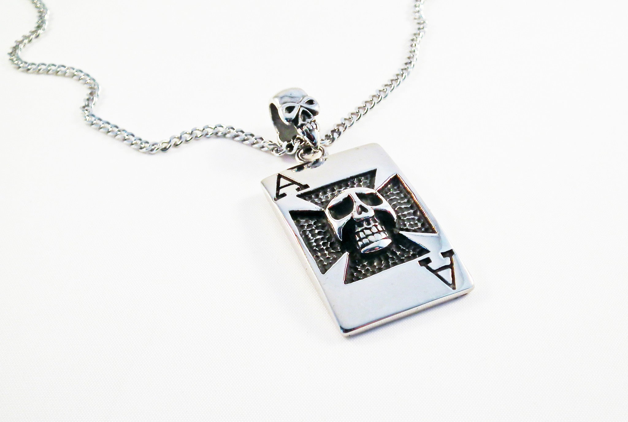 Steel skull cross ace of spade pendant no mercy making steel skull cross ace of spade pendant aloadofball Image collections