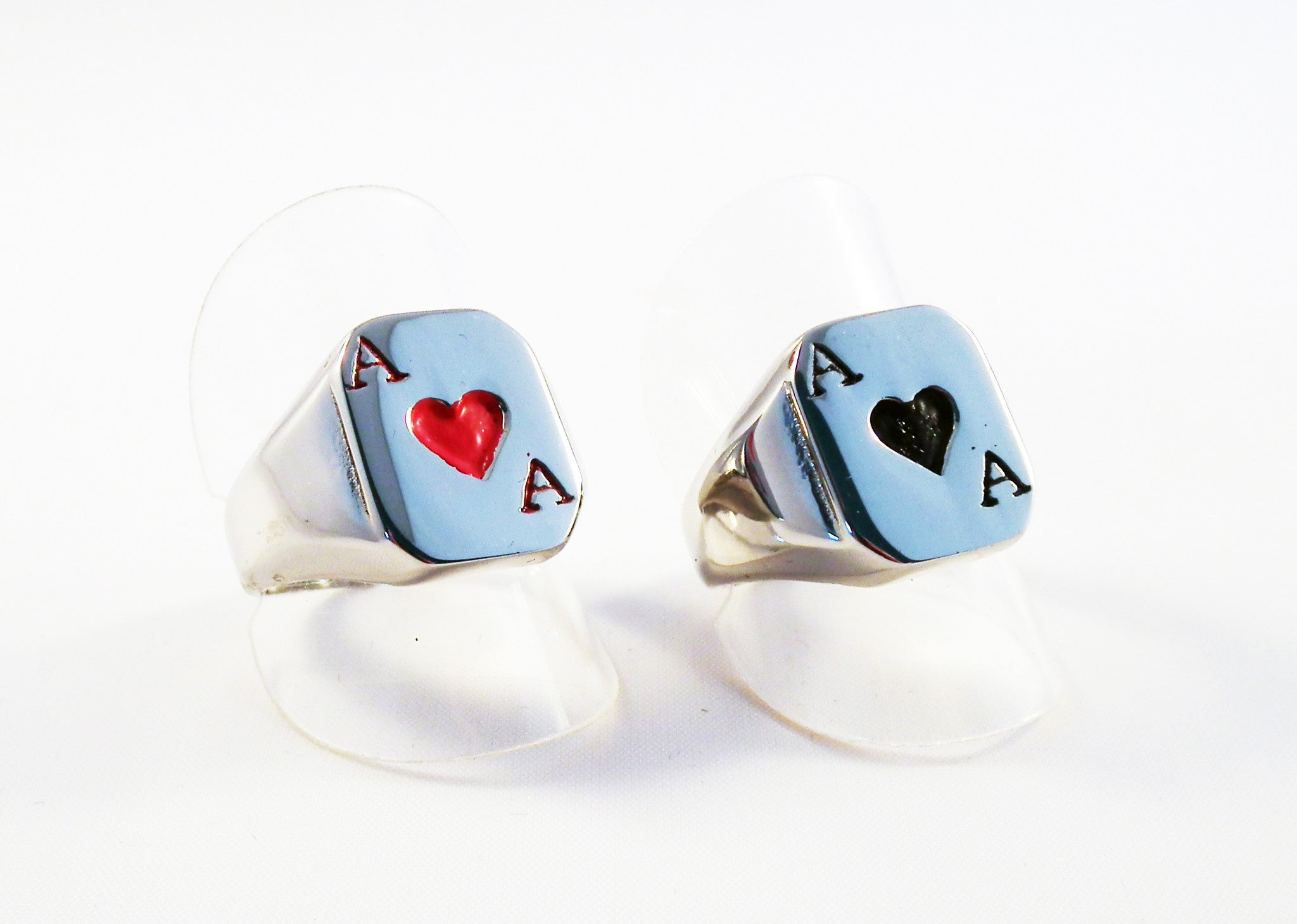 Bague en Acier As de Coeur / Ace of Heart Steel Ring - No Mercy Making
