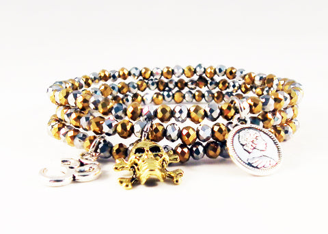 Swarovski Gold and Silver Crystal Bracelets