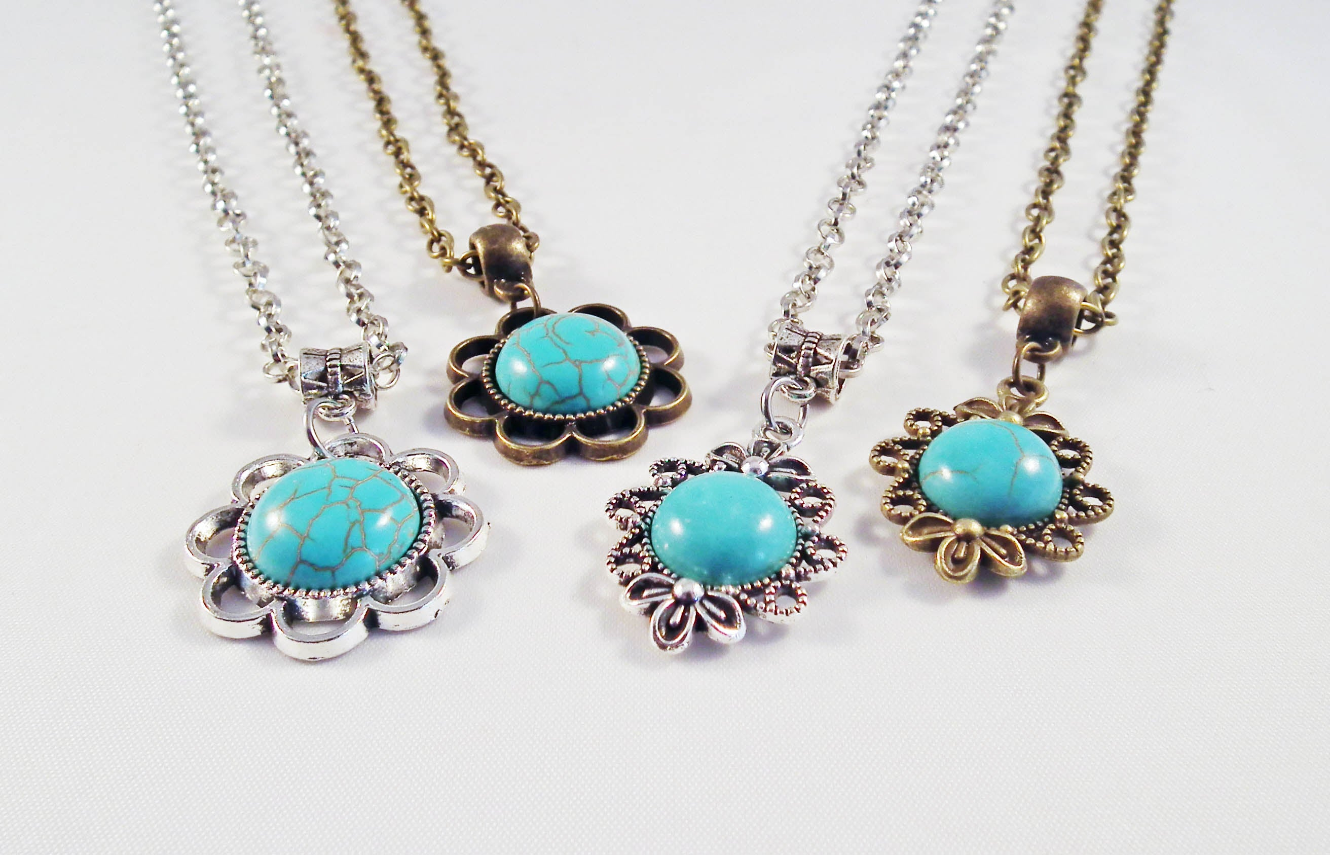 Bohemian Handmade Exclusive Turquoise Necklaces