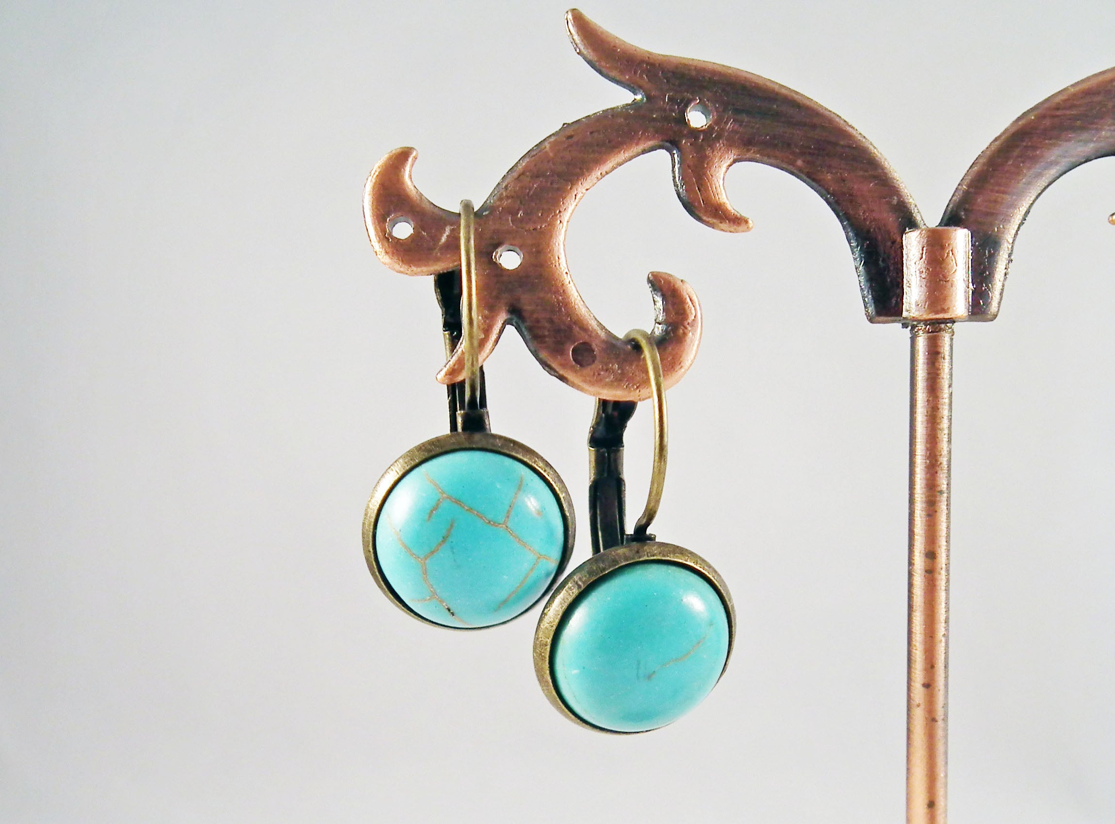 Bohemian Handmade Exclusive Turquoise Earrings