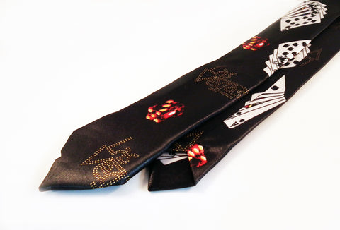 Cravates Poker Las Vegas Fun Ties - No Mercy Making
