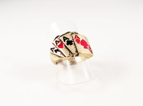 Bague Carré d'As Vintage Quad Aces Ring - No Mercy Making