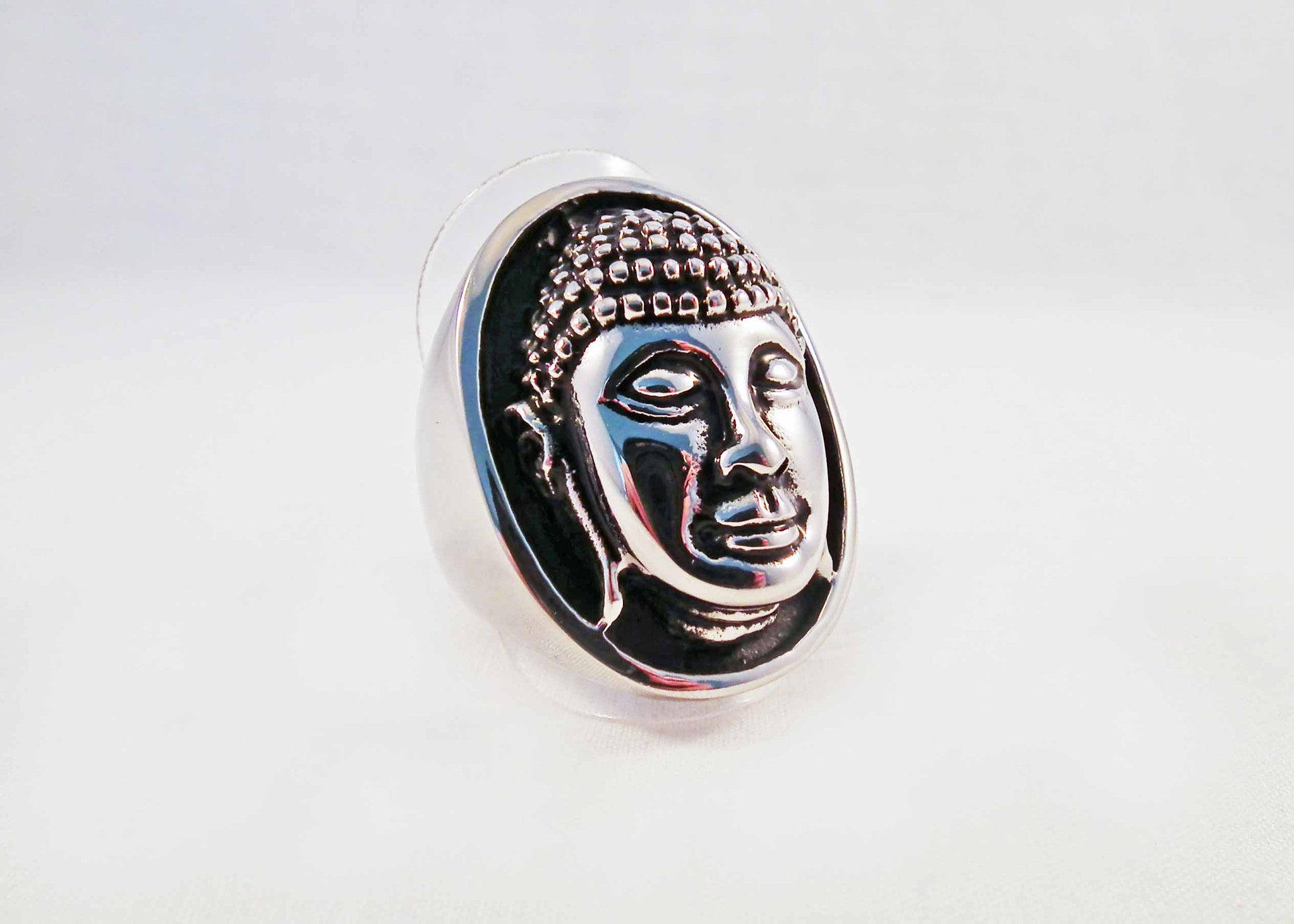 Bague en Acier Buddha Chanceux / Lucky Buddha Steel Ring - No Mercy Making