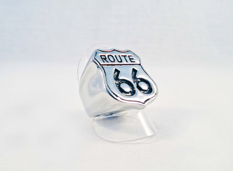 Bague en Acier Route 66 Steel Ring - No Mercy Making