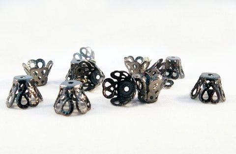 CC010 - Coupelles Gunmetal Bead Cones - No Mercy Making
