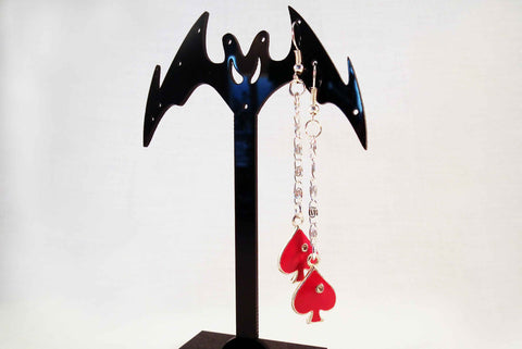 Boucles d'Oreilles au Pique Rouge / PokerStars Red Spade Earrings - No Mercy Making