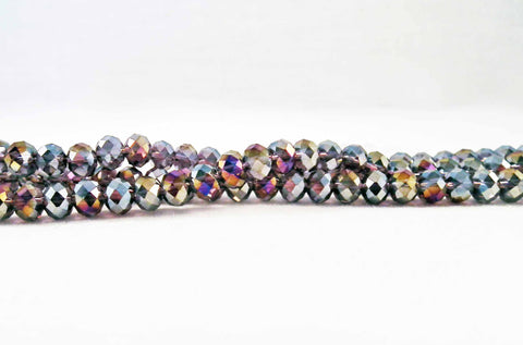 PSM12 - Perles en Verre Multicolores 4X6mm Multicoloured Glass Beads - No Mercy Making