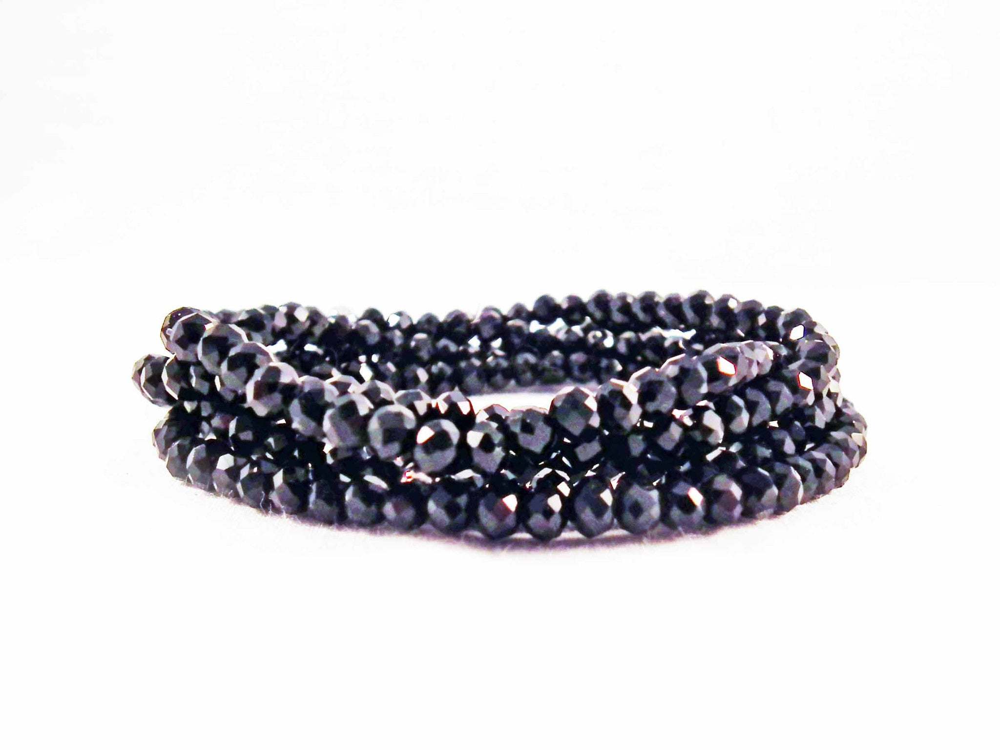 Support Noir Bracelet Swarovski Black - No Mercy Making