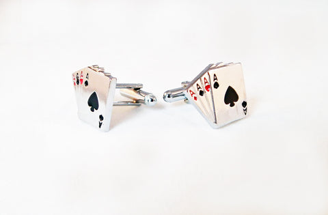 Boutons de Manchette Poker en Acier / Steel Poker Cufflinks - No Mercy Making