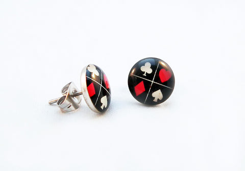 Boucle d'Oreilles Poker Earrings - No Mercy Making