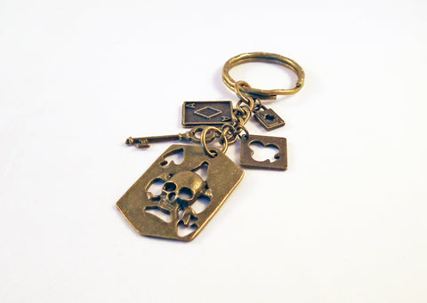 Porte-Clé Poker Bronze Keychain - No Mercy Making