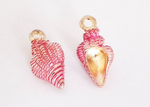 E14R - Breloque Coquillage Or Rose / Rose Gold Shell Charm