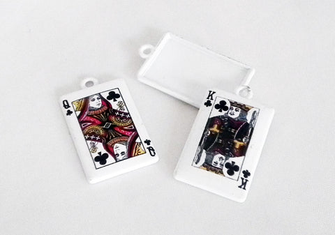 E15 - Breloques Dames er Rois de Trèfle / Queens and Kings of Clubs Poker Charms