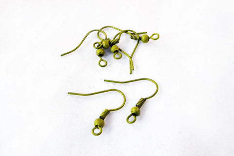 FC24K - Boucles d'Oreilles Vert Kaki / Green Olive Earrings - No Mercy Making