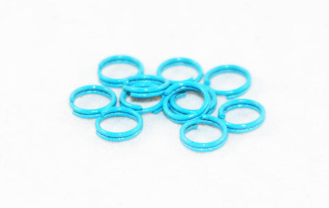 FC35B - Anneaux Doubles Bleu Ciel / Sky Blue Double Loop Jump Rings - No Mercy Making