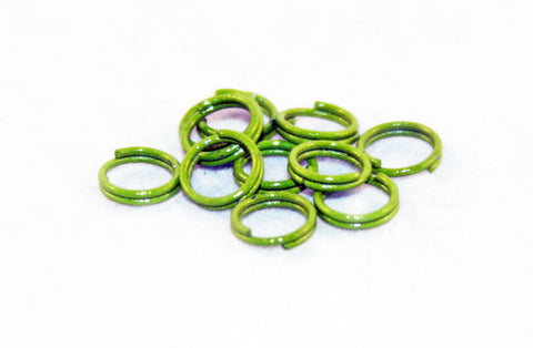 FC35V - Anneaux Doubles Vert / Green Double Loop Jump Rings - No Mercy Making