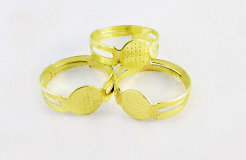 FC65 - Bagues Jaune Cabochon Yellow Rings - No Mercy Making
