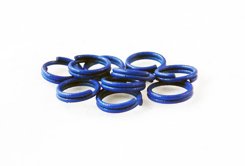 FC68B - Anneaux Doubles Bleu / Blue Double Loop Jump Rings - No Mercy Making