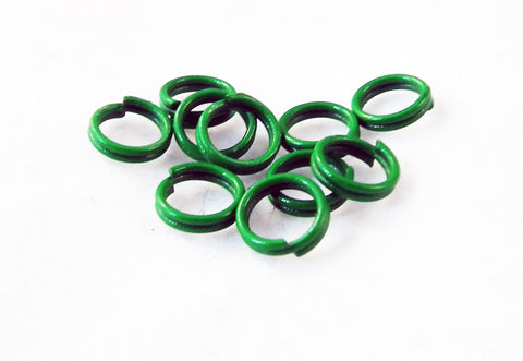 FC68V - Anneaux Doubles Vert / Green Double Loop Jump Rings - No Mercy Making