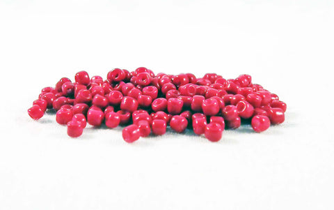 ISP43R - Perles de Rocailles Rouge / Red Czech Glass Spacer Beads - No Mercy Making