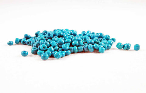 ISP44T - Perles de Rocailles Bleu Turquoise / Blue Czech Glass Spacer Beads - No Mercy Making