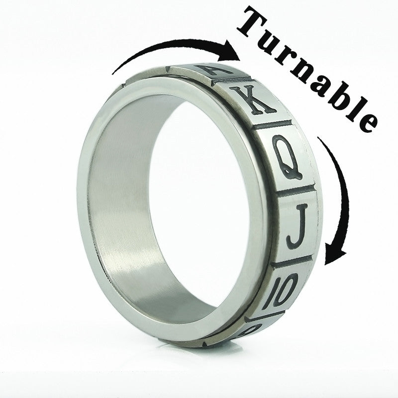Bague en Acier tournante Anti-Stress Spinning Steel Ring - No Mercy Making