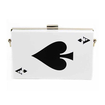 REF57 - Sac à Main Coeur, Pique ou Joker / Heart, Spade, or Joker Design Handbag - No Mercy Making