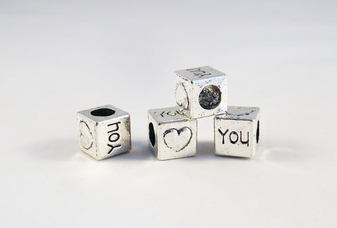PD05 - Perles Cubiques LOVE Pandora Style Beads