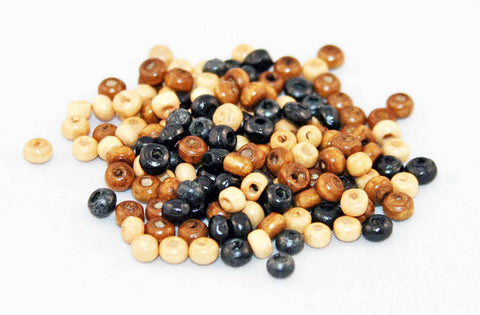 PD12 - Perles en Bois 4mm Wood Beads - No Mercy Making