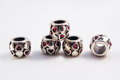 PD24 - Perles Argent Tibétain / Tibetan Silver Beads - No Mercy Making