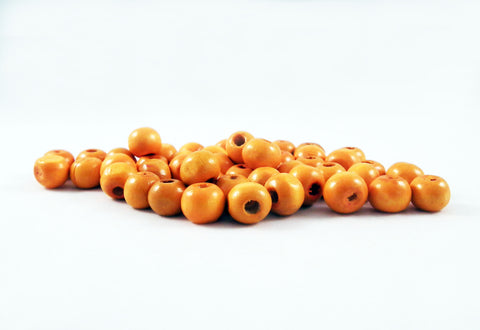 PD48J - Perles en Bois Orange Wood Beads - No Mercy Making