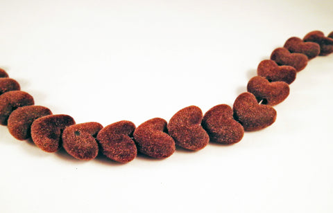 PD62M - Perles Coeur Velours / Velvet Heart Shape Beads - No Mercy Making