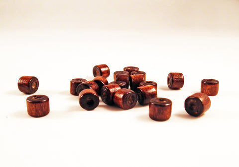 PD75M - Perles en Bois Marron / Brown Wood Beads - No Mercy Making