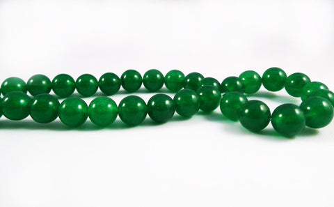 PFM37 - 5 Perles Vert en Jade Green Beads - No Mercy Making