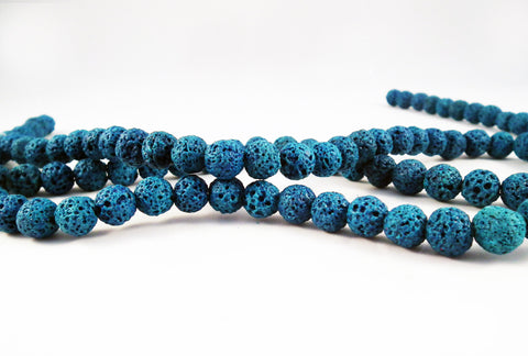 ALV1B - 25 Perles Lave de Roche / 25 Rock Lava Beads - No Mercy Making