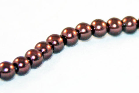 PSM31 - Perles Magiques Marron / Brown Czech Glass Beads - No Mercy Making