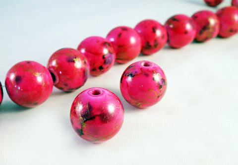 PSM34B - Perles Magiques Rose / Pink Czech Glass Beads - No Mercy Making