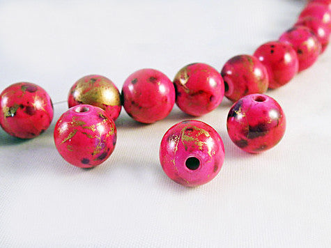 PSM34S - Perles Magiques Rose / Pink Czech Glass Beads - No Mercy Making