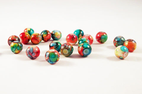 PSM68A - Perles en Verre Colorisées / Colorised Glass Beads - No Mercy Making
