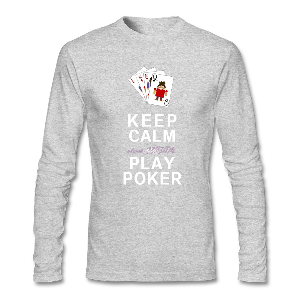"REF39 - Pull 5 Couleurs ""Keep Calm and Play Poker"" 5 Colours Shirt - No Mercy Making"