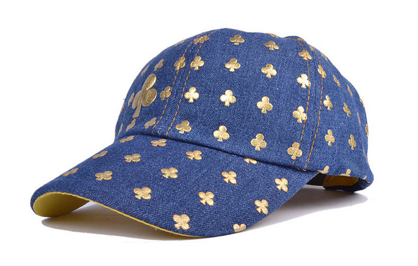REF75 - Casquette Bleu Jeans Monogramme Poker 4 Choix / 4 Choices Card Suits Blue Jeans Cap - No Mercy Making