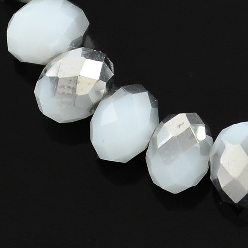 SW01A - Perles en Verre Bicolore 4x3mm Electroplate Glass Beads - No Mercy Making