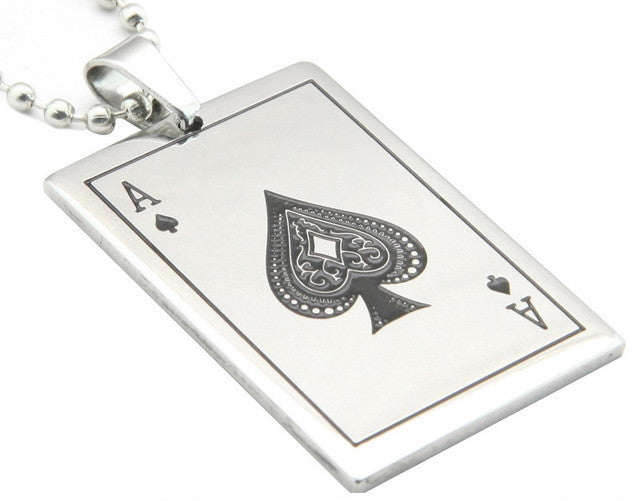 Pendentif Acier As de Pique / Steel Ace of Spade Pendant - No Mercy Making