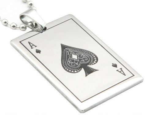 Pendentifs 5 Cartes Poker Acier / Steel Poker 5 Cards Pendants - No Mercy Making