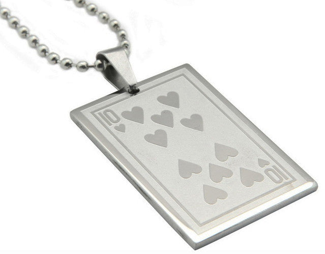 REF20E - Pendentifs Cartes Poker Acier / Steel Poker Cards Pendants - No Mercy Making