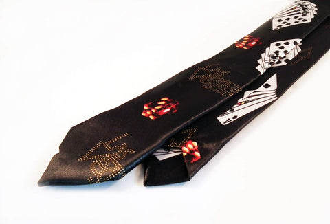 Cravates ou Noeud Papillon Poker Blanc ou Noir / Ties or Bow ties Playing Cards Black or White