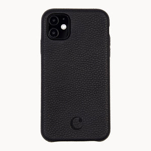 Clen Black iPhone 11 Leather Phone Case