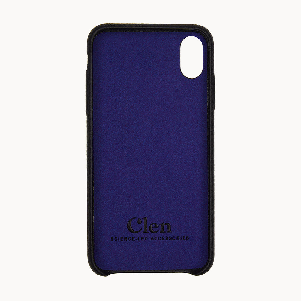 Clen Black iPhone X Leather Phone Case