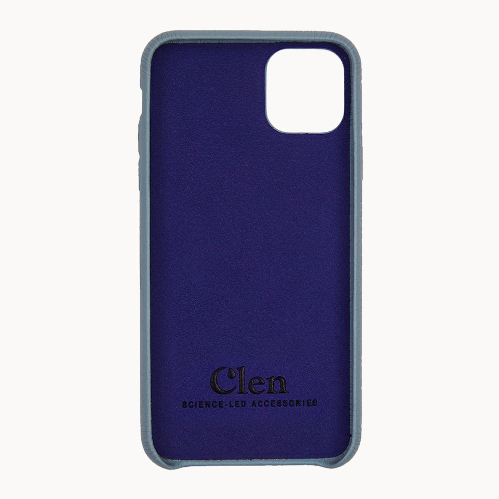Clen Baby Blue iPhone 11 Leather Phone Case